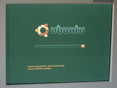 Ubuntu 8.10の終了画面