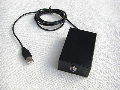 USBフットスイッチ 1穴仕様 本体正面