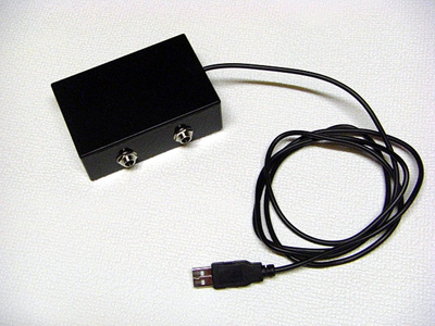 USBフットスイッチ 2穴仕様 完成品