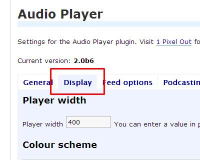 Audio Player WordPress plugin(1 Pixel Out)の設定 2