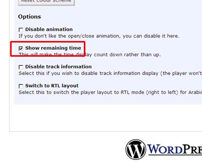 Audio Player WordPress plugin(1 Pixel Out)の設定 3