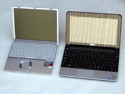レッツノート R3 と DELL MINI10 画像2