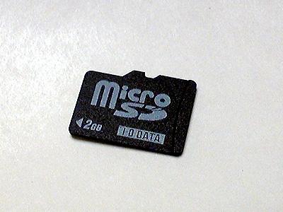 新規購入の携帯 Micro SDカード