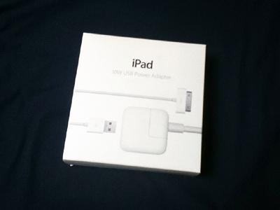 Apple iPad2 10W USB電源アダプターを購入