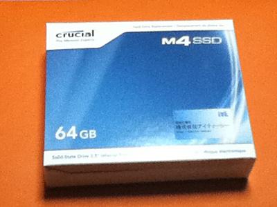 SSD Crucial M4 64GB ハードディスクデビュー