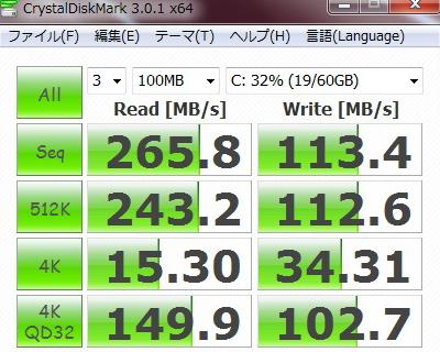 EC1400-41R SSD Crucial M4 64GB ベンチマーク
