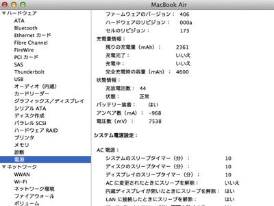 ひかげのMacBook Air MC969J/A 2012.7/8 画像2