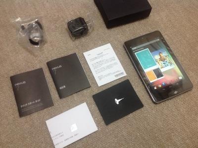 SIMフリー版のNexus7とb-mobile 1GB定額パッケージ 画像2