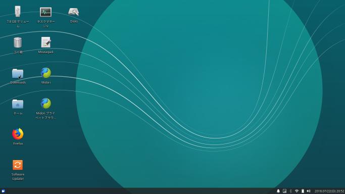 EC1400-41R Xubuntu 18.04 LTS インストール後