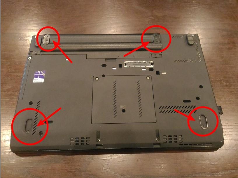 Lenovo X230 ゴム足の補修(簡易修理)その1 画像1